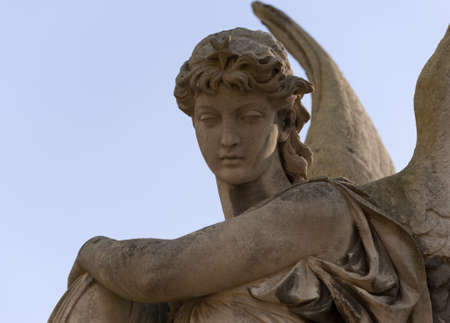 angel statue: Monument to an angel on a cemetery. Since its creation in 1787 Lychakiv Cemetery Lvov, Ukraine Stock Photo