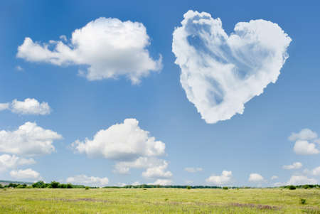 Heart from clouds photo