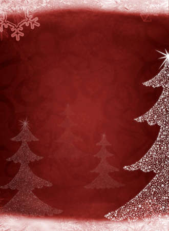 christmas scroll: Christmas abstract fur-tree. It is created from set of different snowflakes