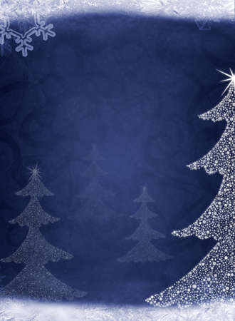 Christmas abstract fur-tree. It is created from set of different snowflakes Stock Photo - 8203699