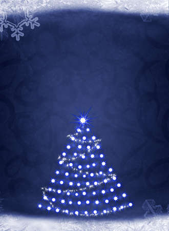 Christmas background. Elements of a snow, snowflakes, an ice Stock Photo - 8203698
