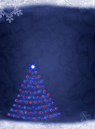 Christmas background. Elements of a snow, snowflakes, an ice Stock Photo - 8251229