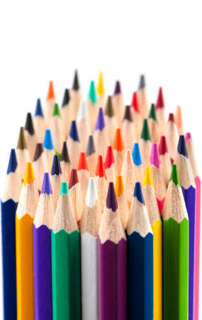 Set of color pencils. It is isolated on a white background Stock Photo - 8453645