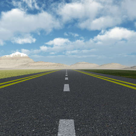 Asphalt road. A transport highway with the blue sky. A transport highway with the blue sky Stock Photo - 8591243