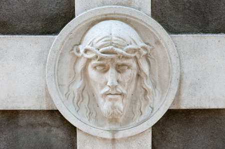 stone carvings: Monument to Jesus. Since its creation in 1787 Lychakiv Cemetery Lvov, Ukraine Stock Photo