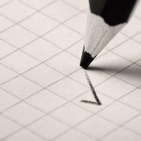 pencil writing a mark. Abstract concept photo