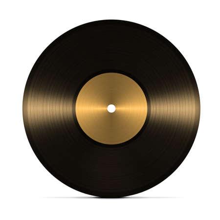 vinyl record. isolated on white background photo