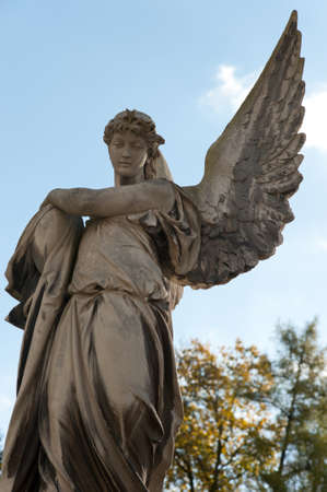 Monument to an angel on a cemetery. Since its creation in 1787 Lychakiv Cemetery Lvov, Ukraine photo