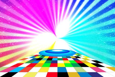 saturation: Scene for entertainment. Bright saturation colour Stock Photo