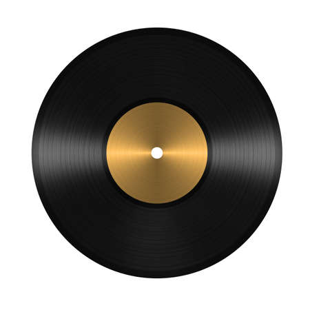 gold record: vinyl record. isolated on white background