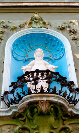Monument Our Lady of Guadalupe.Located in a balcony photo