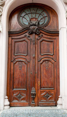 Old wooden doors. Woodcarving 1800-1900 years photo