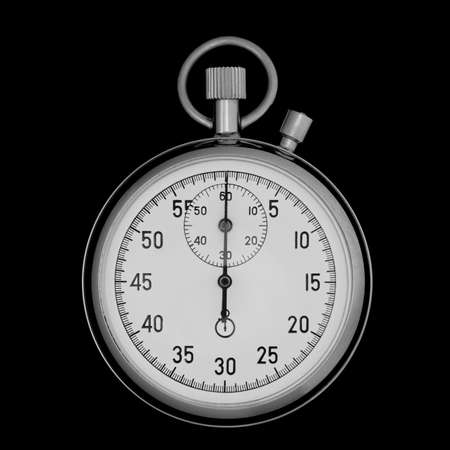 Stopwatch closeup on black. The device for time gauging photo
