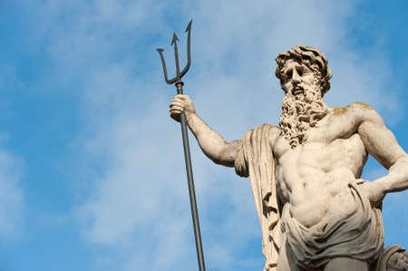 greek statue: Statue Neptun. Date of creation 1800-1900 years. Lvov, Ukraine
