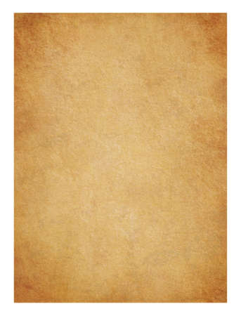 vignette: Parchment. Detailed old page papers. It is isolated on a white background Stock Photo