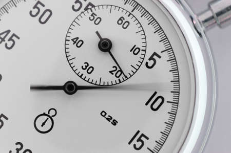 active arrow: Stopwatch closeup. With a moving arrow. Active Stock Photo