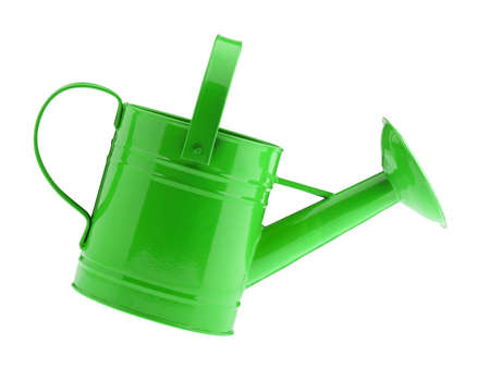 water can: Green watering can. It is isolated on a white background