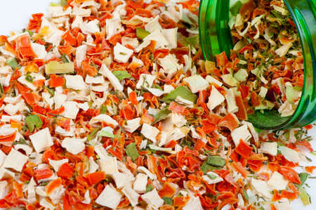 Dry spices background. A set of colour dried flavoring Stock Photo - 9638033