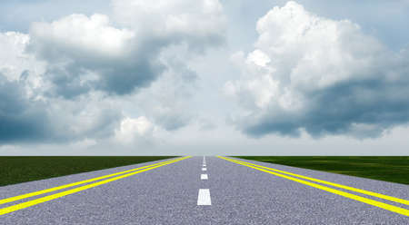 Asphalt road. A transport highway with the blue sky. A transport highway with the blue sky Stock Photo - 9709526