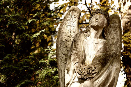 angel cemetery: Monument to an angel on a cemetery. Since its creation in 1787 Lychakiv Cemetery Lvov, Ukraine Stock Photo