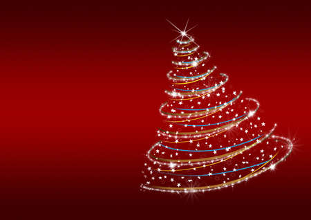 weihnachten tanne: Weihnachtsbaum von Schneeflocken. Die Wirkung von einem Schneesturm, der zieht die Tanne