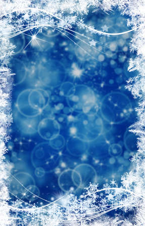 Background and bright flashes and snowflakes particles photo