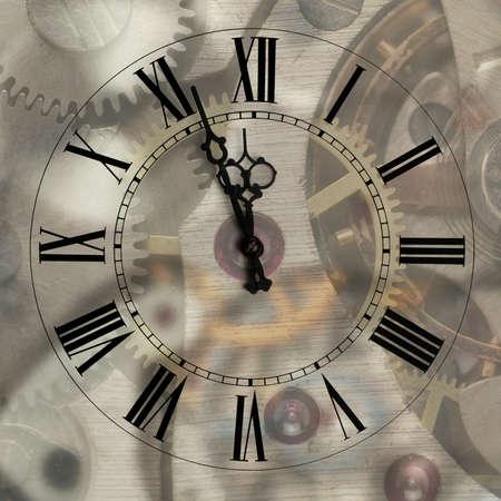 numeros romanos: Antiguos horas con flechas importante mecanismo de desenfoque de fondo.Las flechas y las cifras romanas