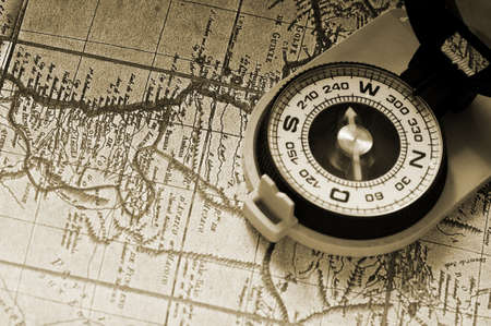 Compass And Old Map Processing Of A Antique Photo Stock Photo - Antiques us maps with compass