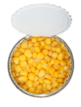 cans of corn. Iron packaging, a photo with top photo