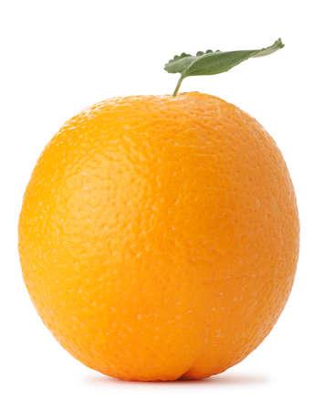 Oranje. Een gedetailleerde foto van exotisch fruit op een witte achtergrond Stockfoto