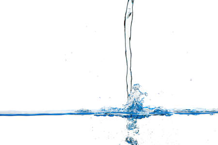 Splashes and water waves. Blue color on white isolated Stock Photo - 12700975