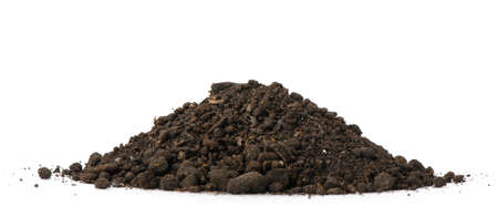 dirt pile: Heap dirt. Isolated on white background
