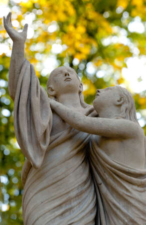Tombstone two girls. Since its creation in 1787 Lychakiv Cemetery Lvov, Ukraine. photo