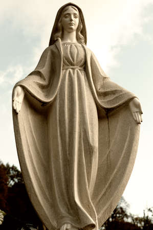 Monument Lady of Guadalupe on a cemetery. Since its creation in 1787 Lychakiv Cemetery Lvov, Ukraine photo