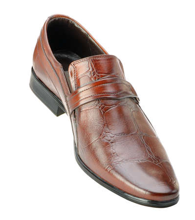 mens shoes: Mans shoes.  A red skin. It is isolated on a white background