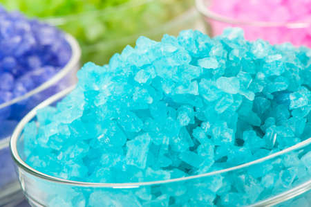 Sea color salt in glasses. Photo closeup Stock Photo - 13240611
