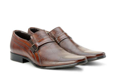 mens shoes: Pair of mans shoes. A red skin. It is isolated on a white background