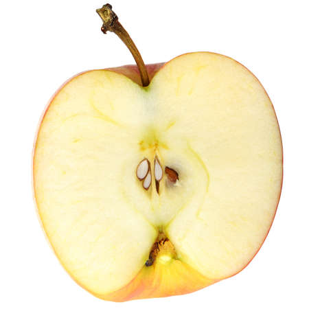 The cut apple. A detailed photo of fruit on a white background photo