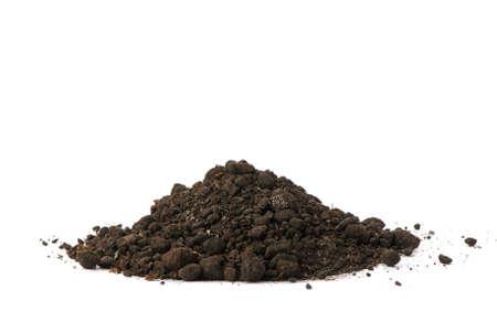 turf: Heap vuil. Geà ¯ soleerd op witte achtergrond