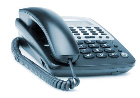 Phone isolated on white. Modern phone, high detailed photo. Blue toned Stock Photo