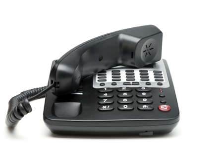 landline: Telefono isolato su bianco. Moderno telefono, ad alta foto dettagliata.