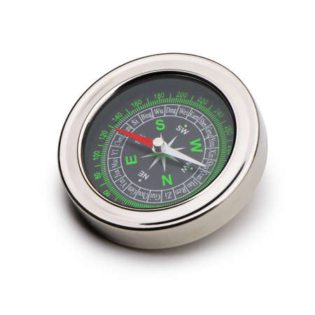 compass. Isolated on white background.Instrument that indicates magnetic north Stock Photo - 14216288