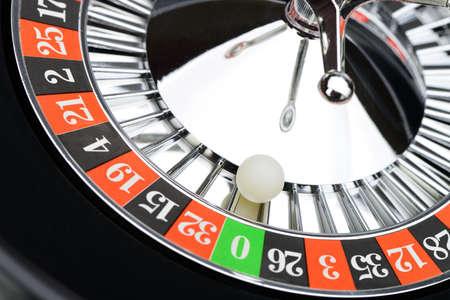 casino roulette: Roulette wheel in casino closeup