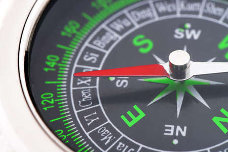compass closeup. instrument that indicates magnetic north Stock Photo - 14508104