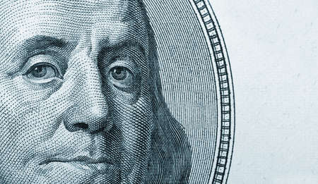 benjamin franklin: Dollars closeup.Highly detailed picture of American money