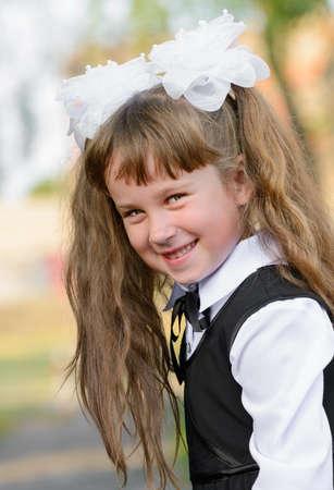 Portrait beautiful girl.  closeup outdoors photo