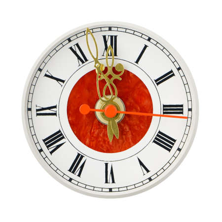 Dial of analog hours. It is isolated on a white background photo