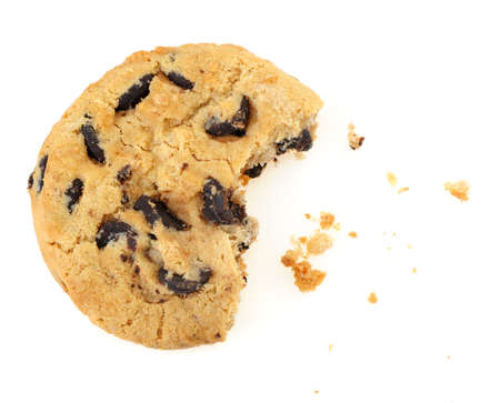 baked goods: Chocolate cookies. Broken, it is isolated on a white background