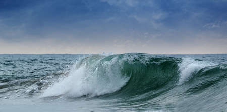 larger: The larger waves. The coast of the Indian ocean. Sri Lanka Stock Photo