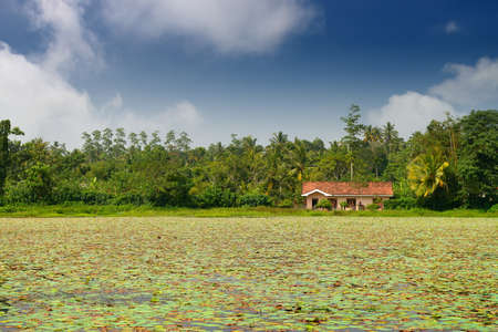 The house on the lake . Country Of Sri Lanka Stock Photo - 17230856